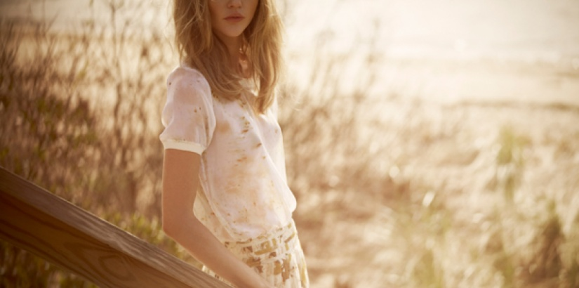 Sasha Pivovarova for Club Monaco spring 2012