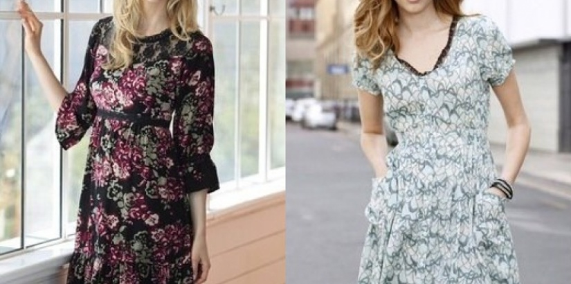 printed party dresses