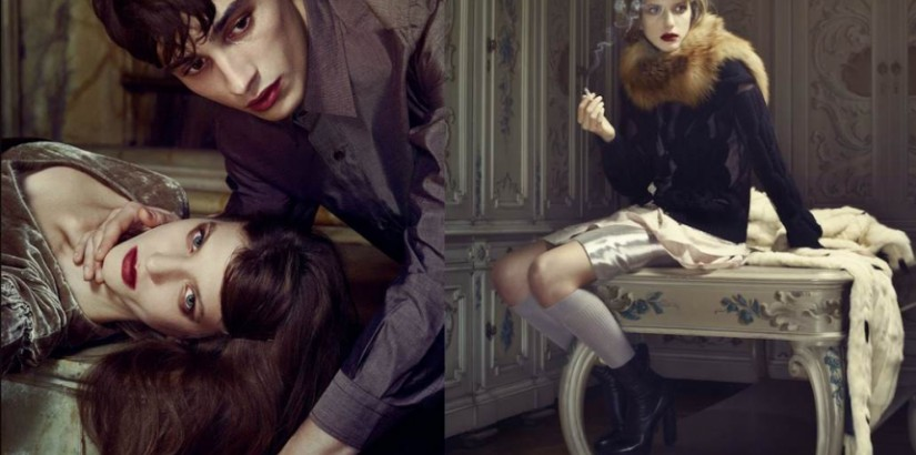 Caterina Ravaglia, Adrien Sahores by Erwin Olaf, Grey, spring 2013