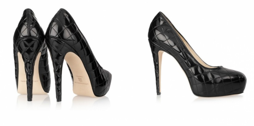 Patent-leather platform pumps