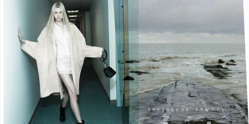 Wylie Hays in Theyskens' Theory spring 2013 ad